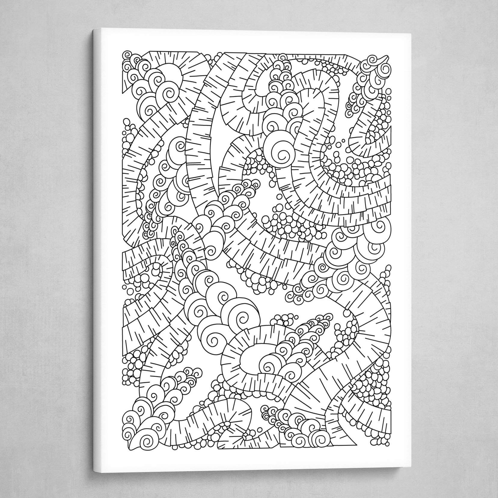 Wandering 13: black & white line art