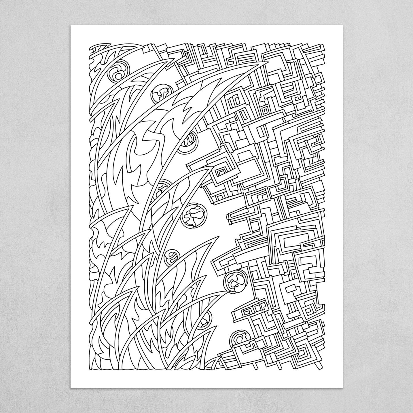 Wandering Abstract Line Art 18: Black & White