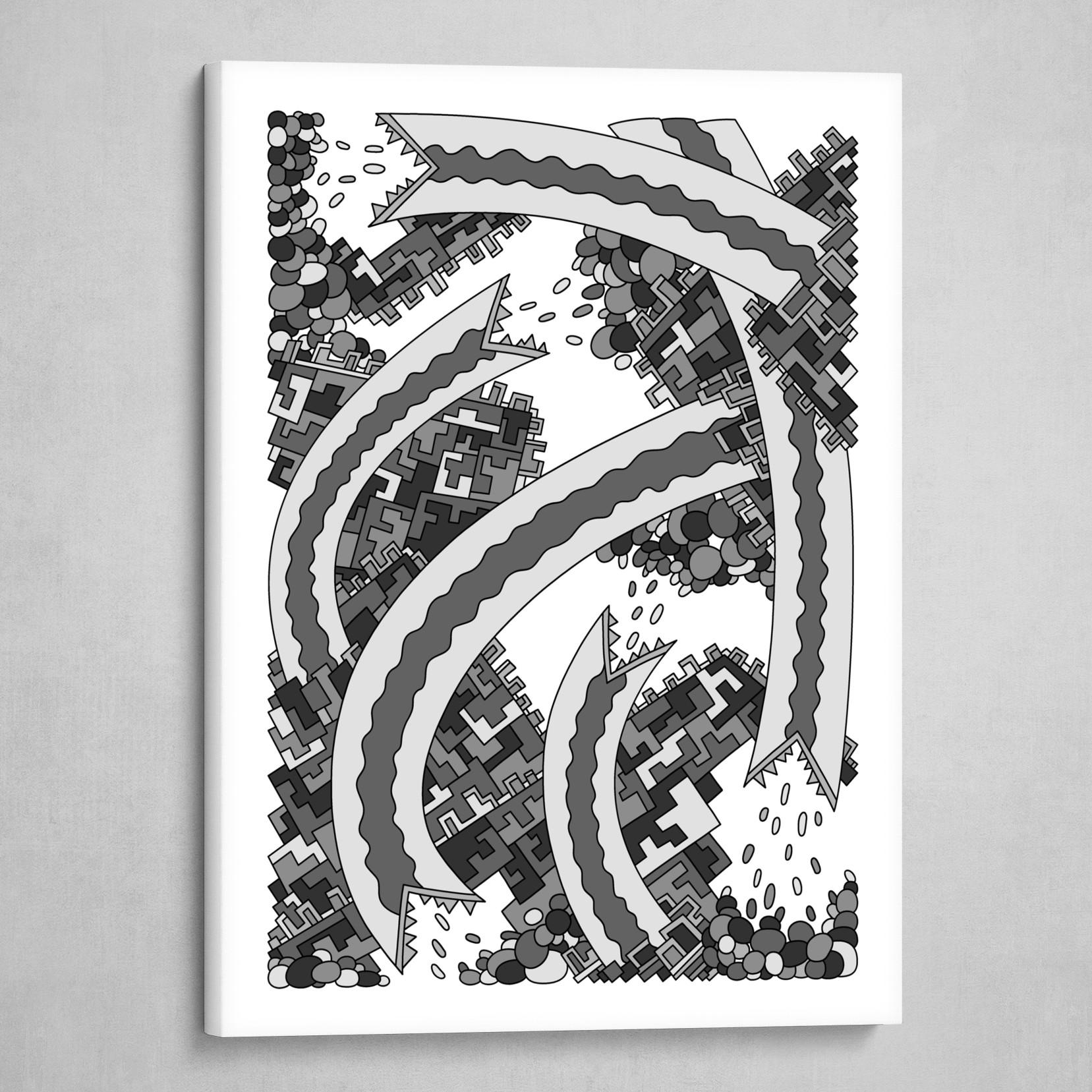Wandering 19: grayscale