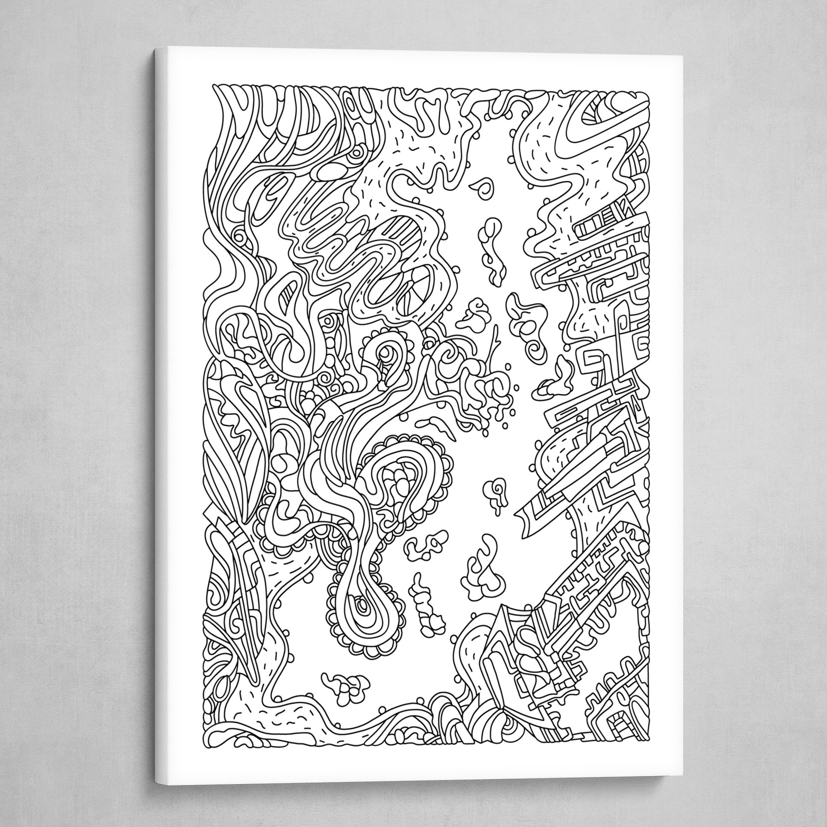 Wandering 20: black & white line art