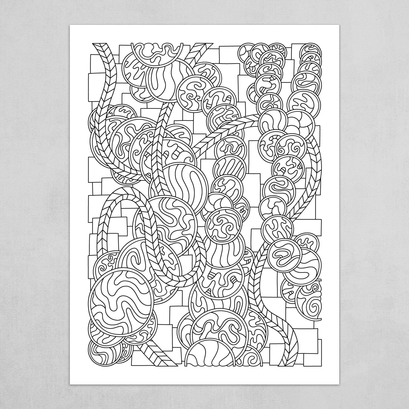Wandering Abstract Line Art 43: Black & White