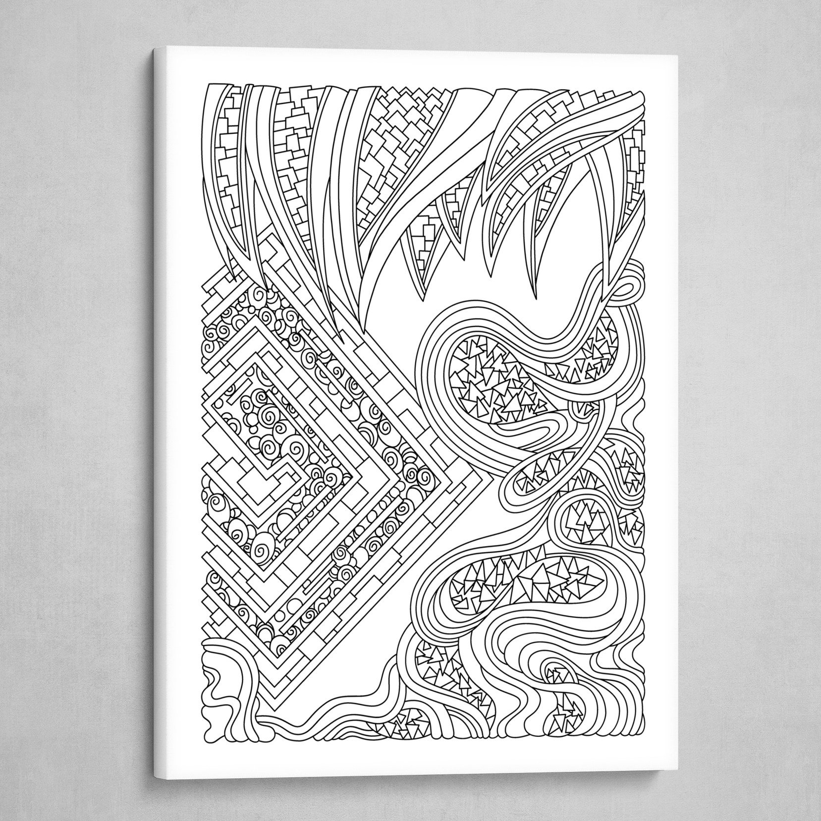 Wandering 47: black & white line art
