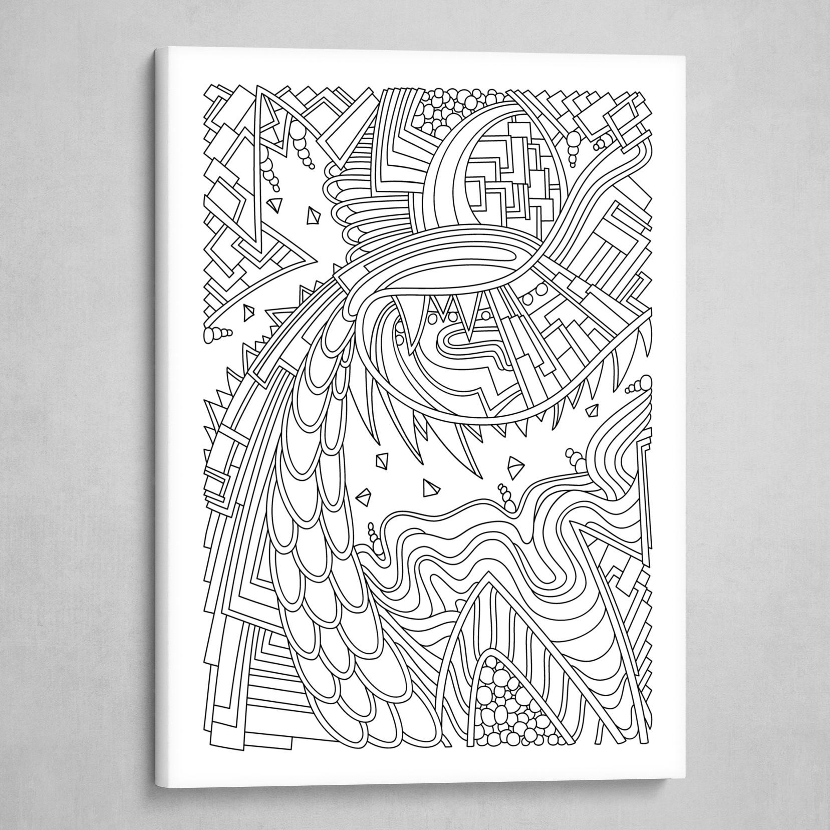 Wandering 49: black & white line art