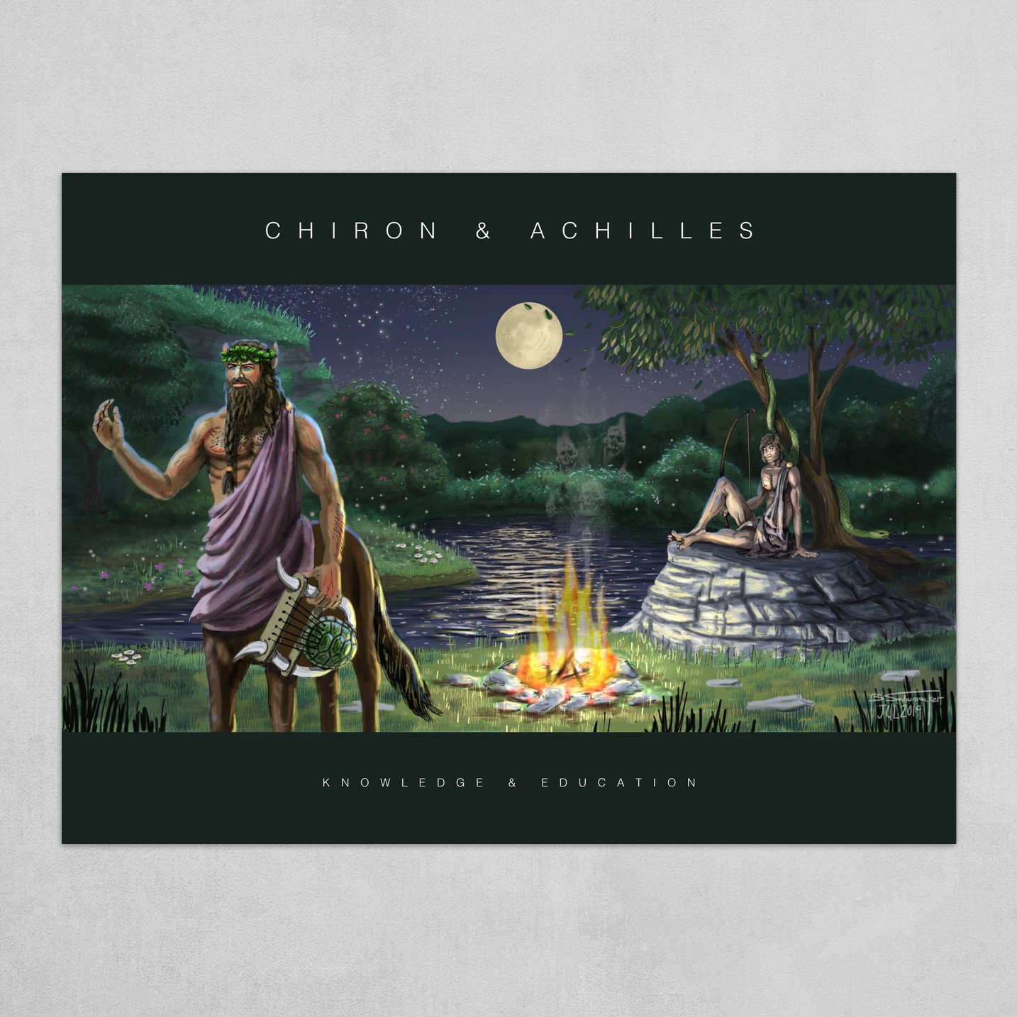 Chiron & Achilles - Poster