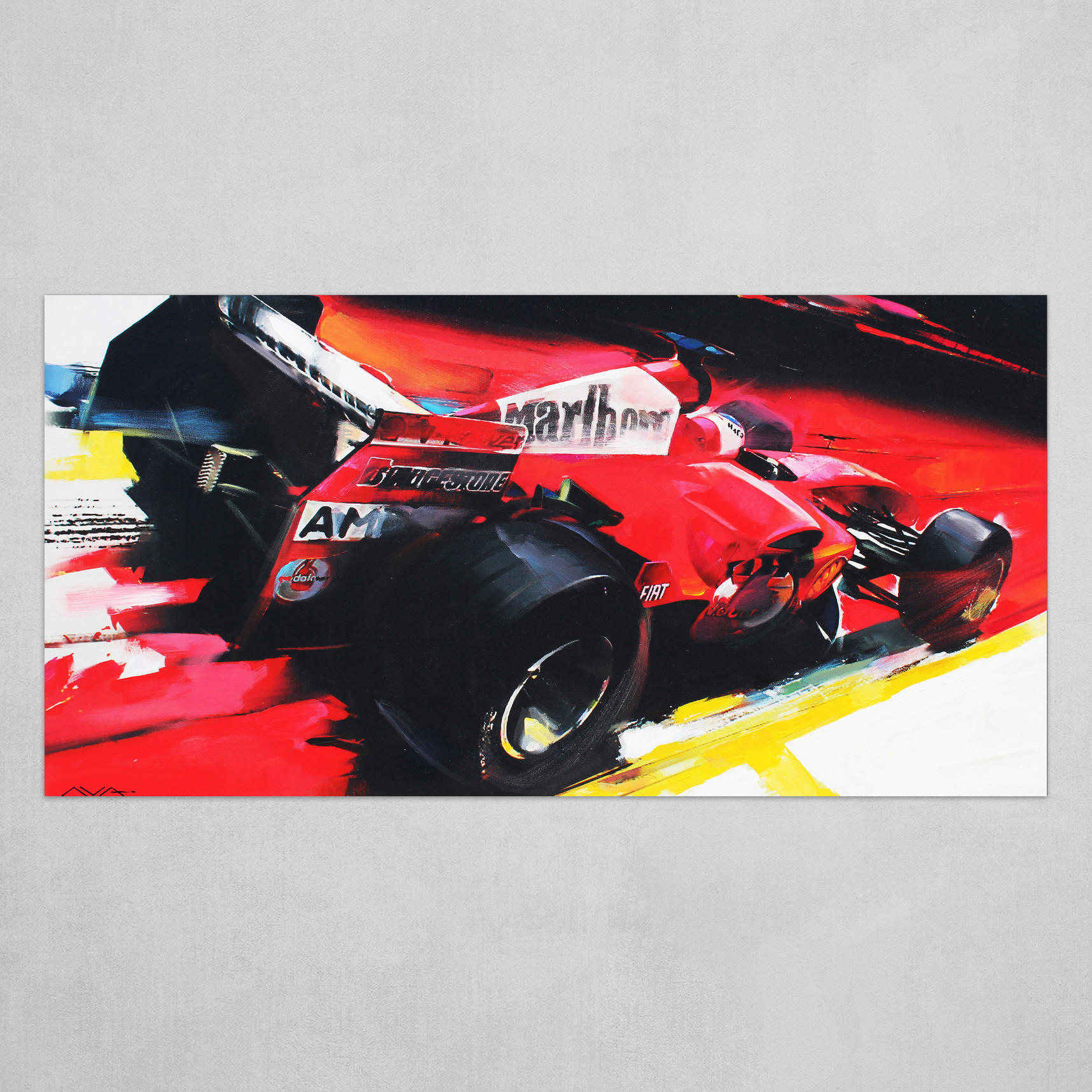 Ferrari F1 Art Poster By Ilya Avakov