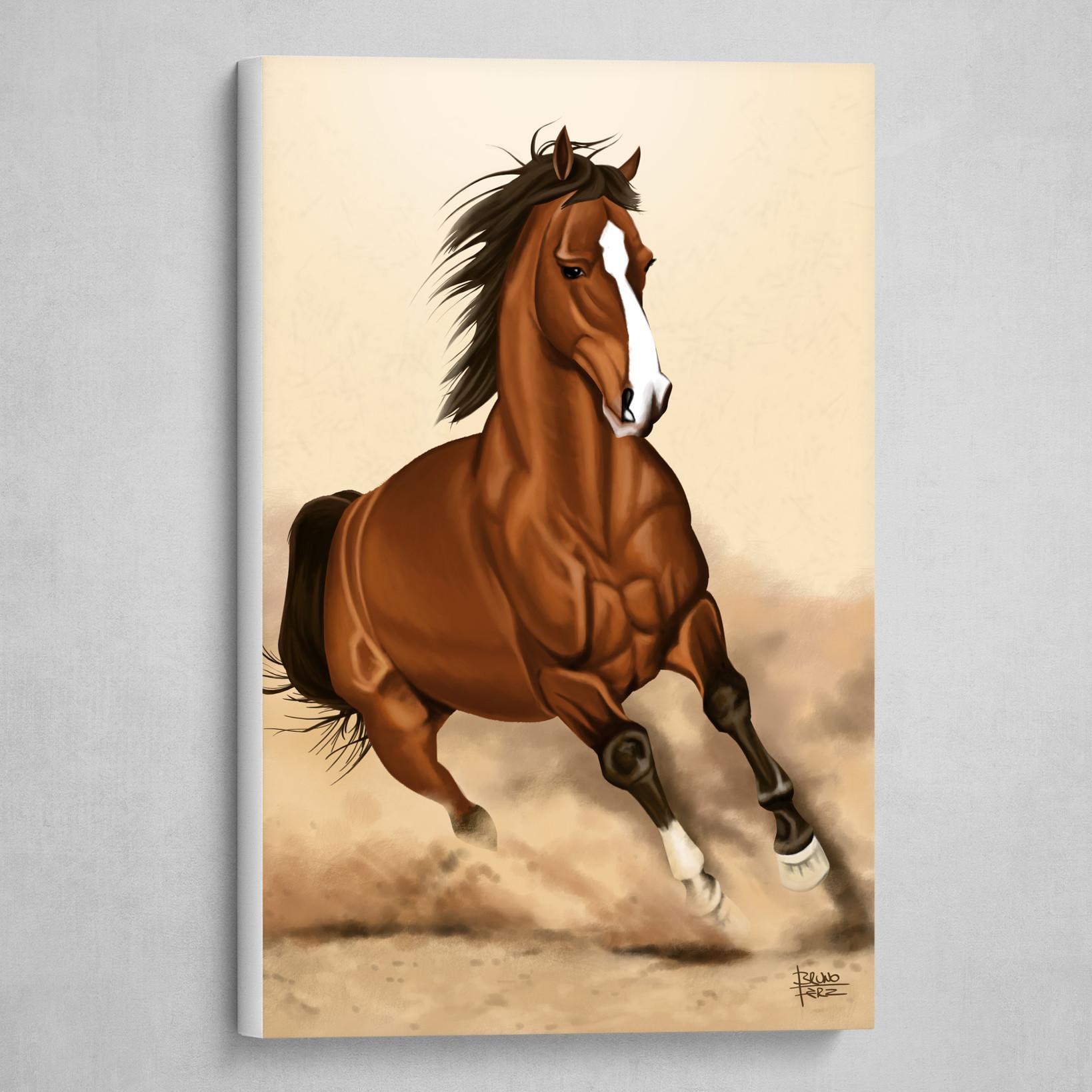Wild Horse Art Poster By Bruno Fernandez