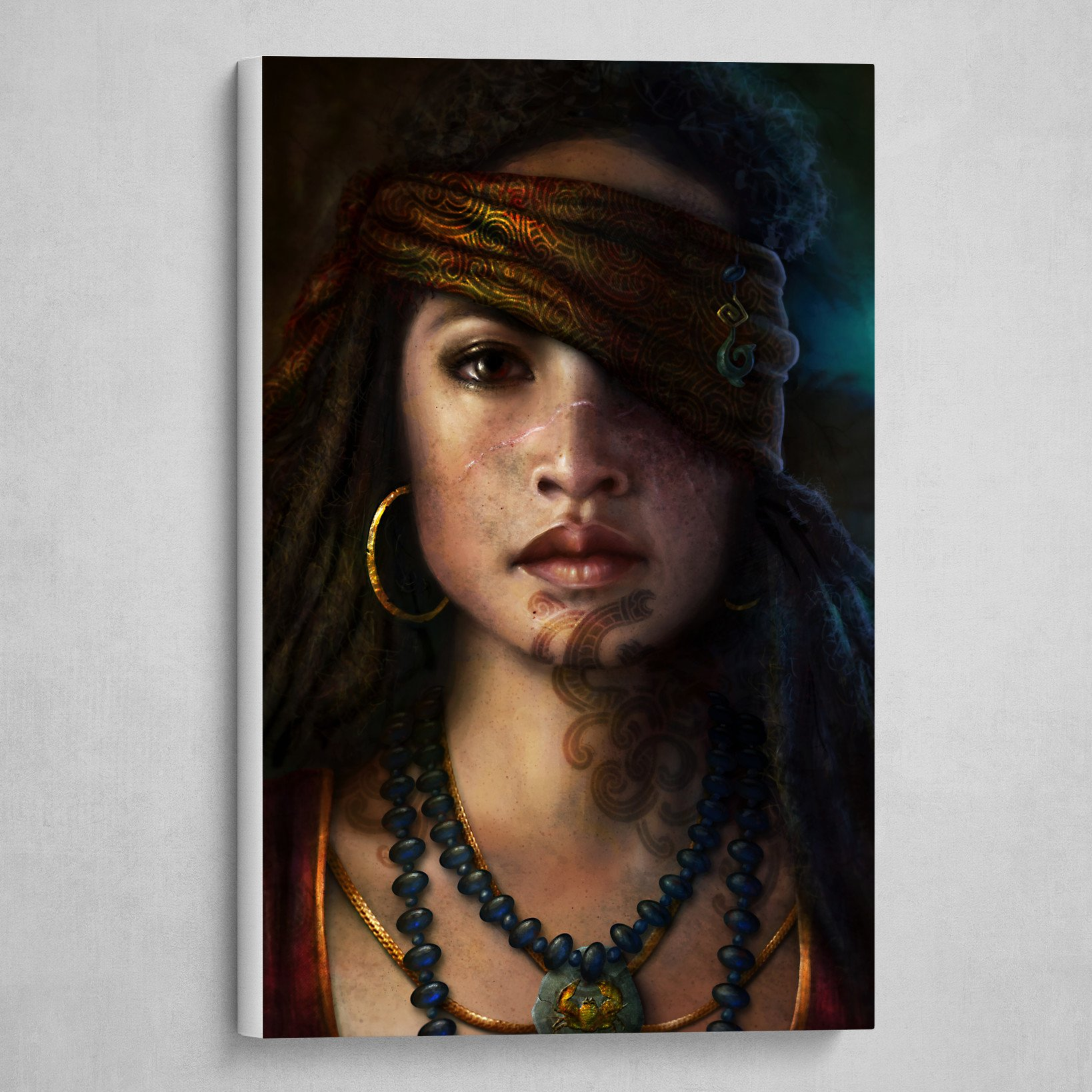Maori Pirate Princess Portrait