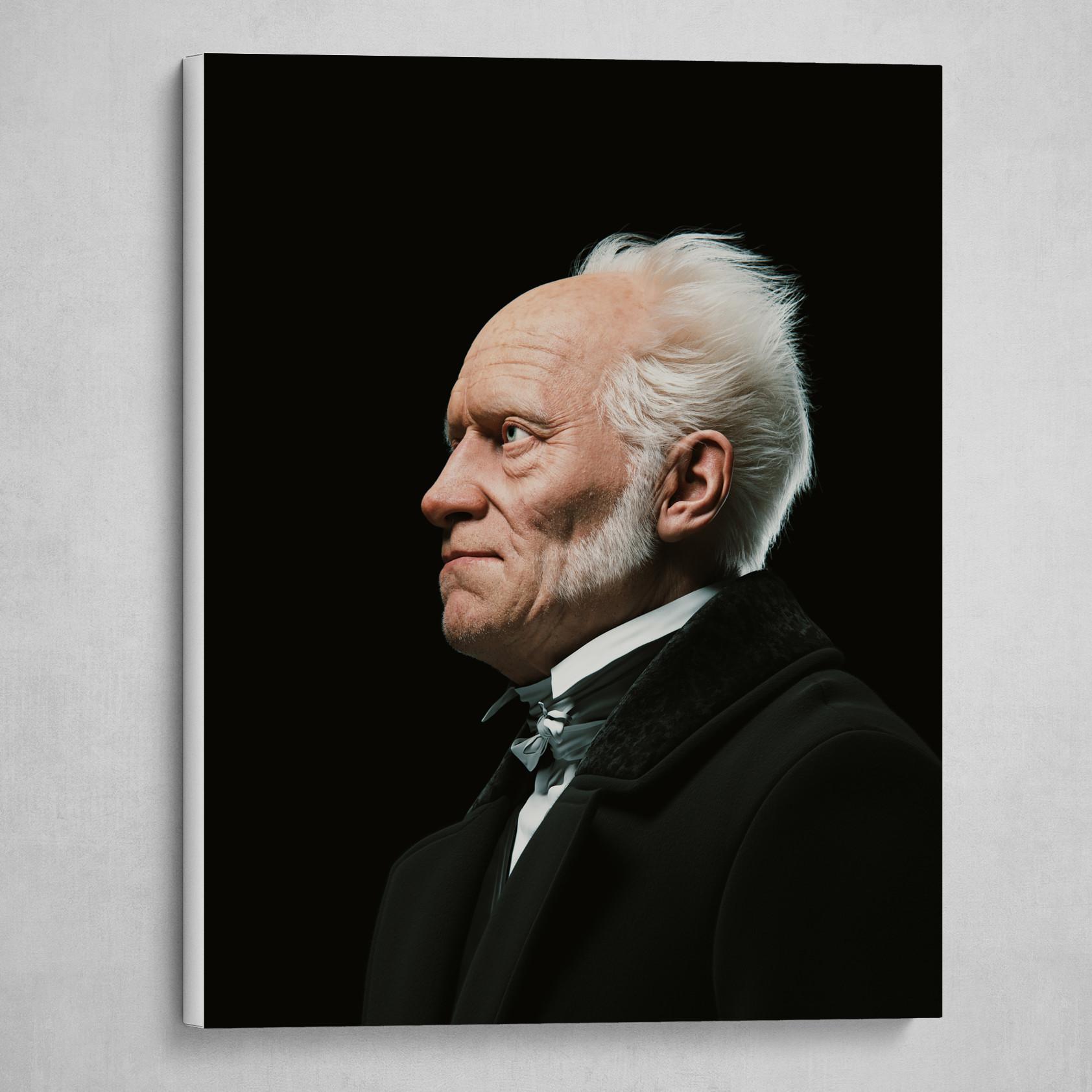 Arthur Schopenhauer Digital Bust #1