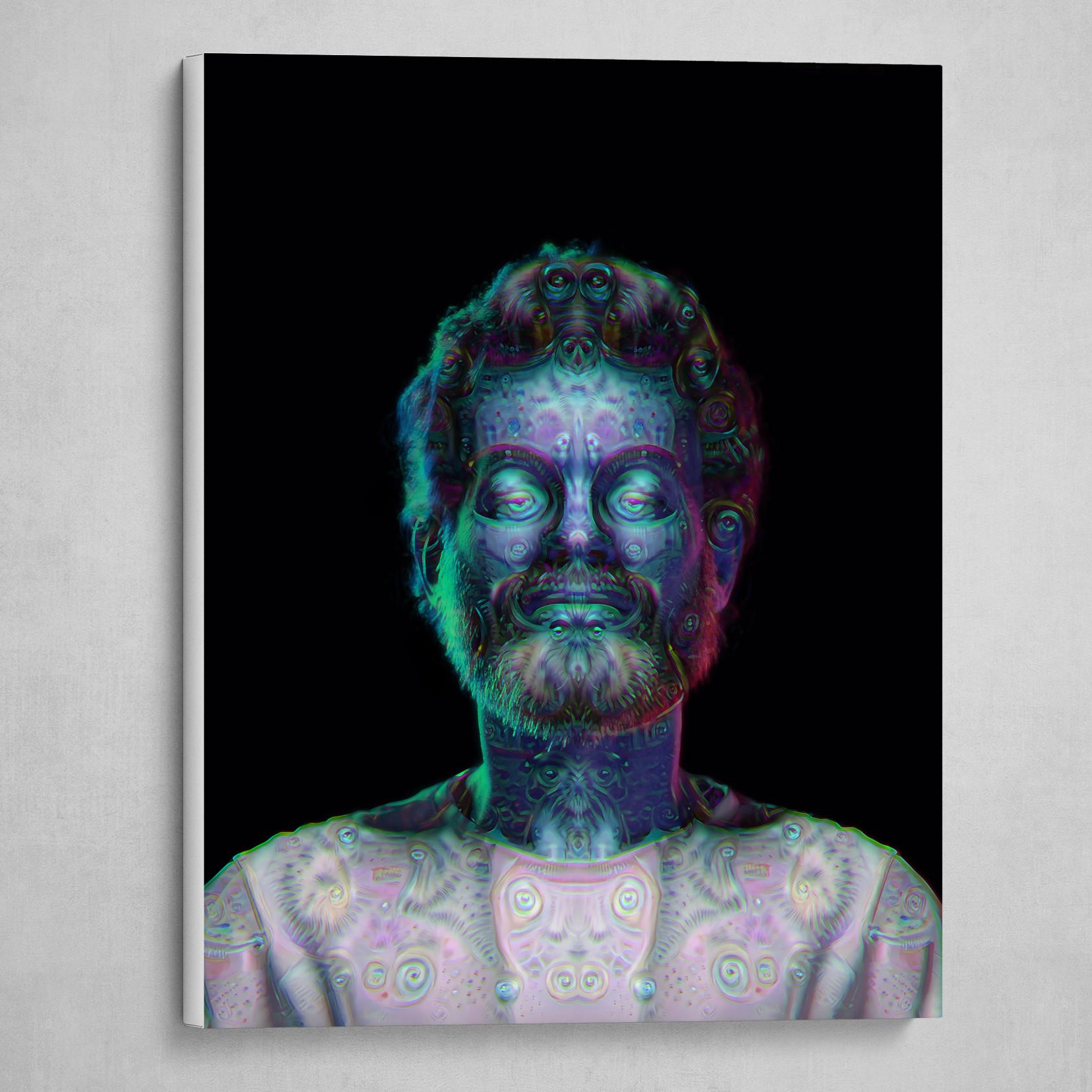 Terence Mckenna Digital Bust #4