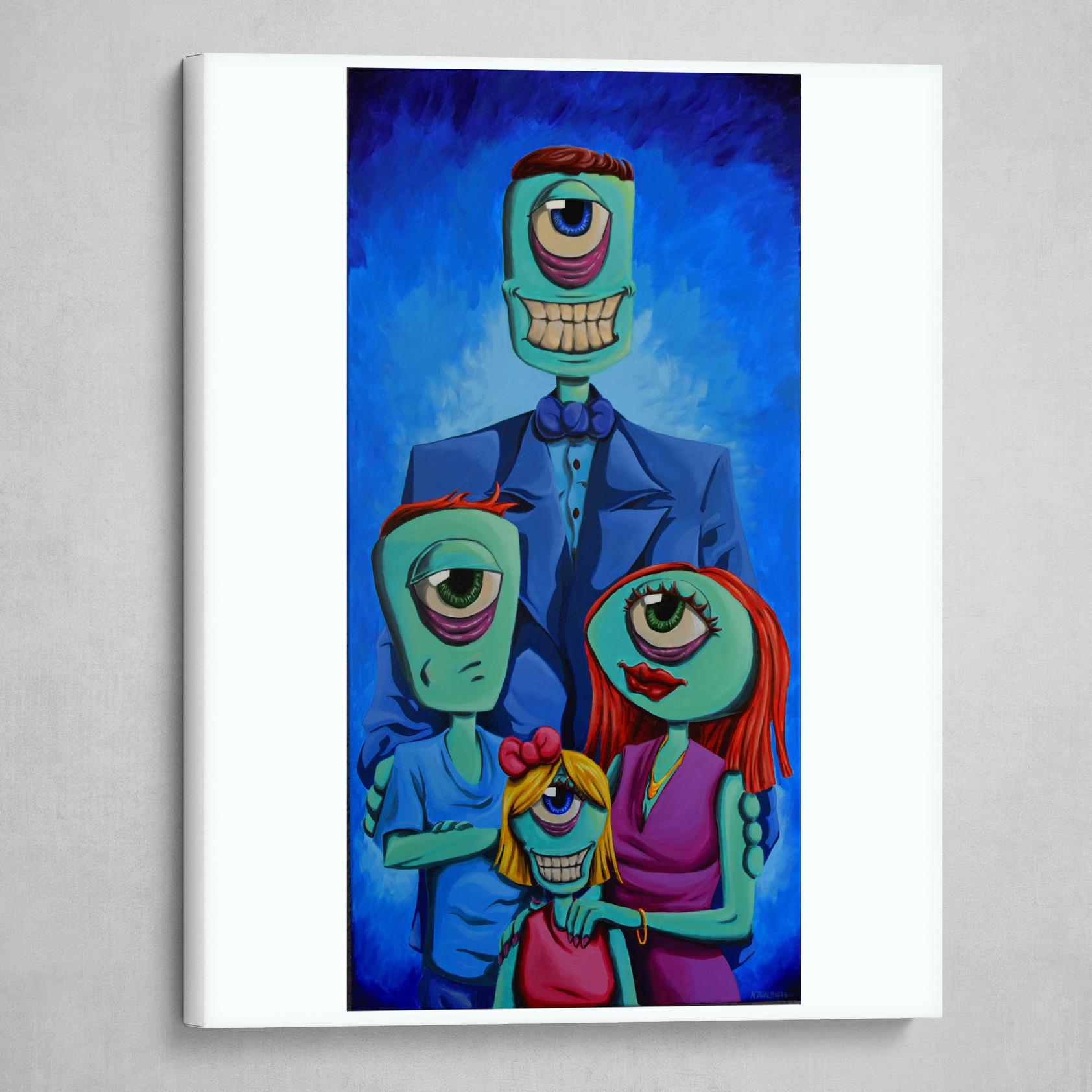 Funky Face Family Portrait