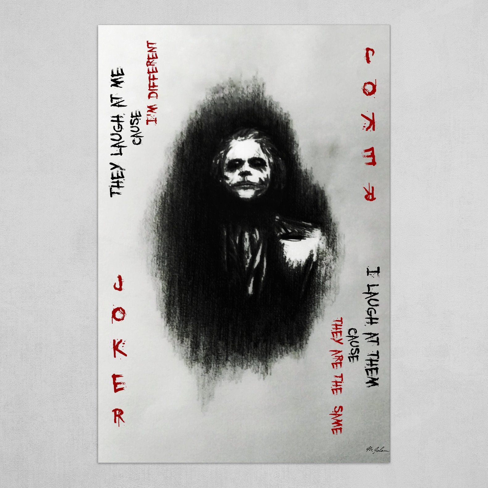 The Joker Official Art Batman High Quality Prints The Dark Knight Poster