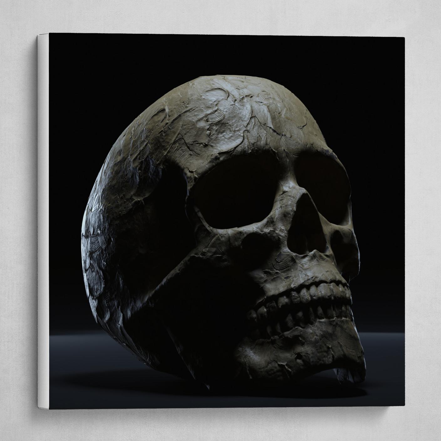 Clay Skull #1