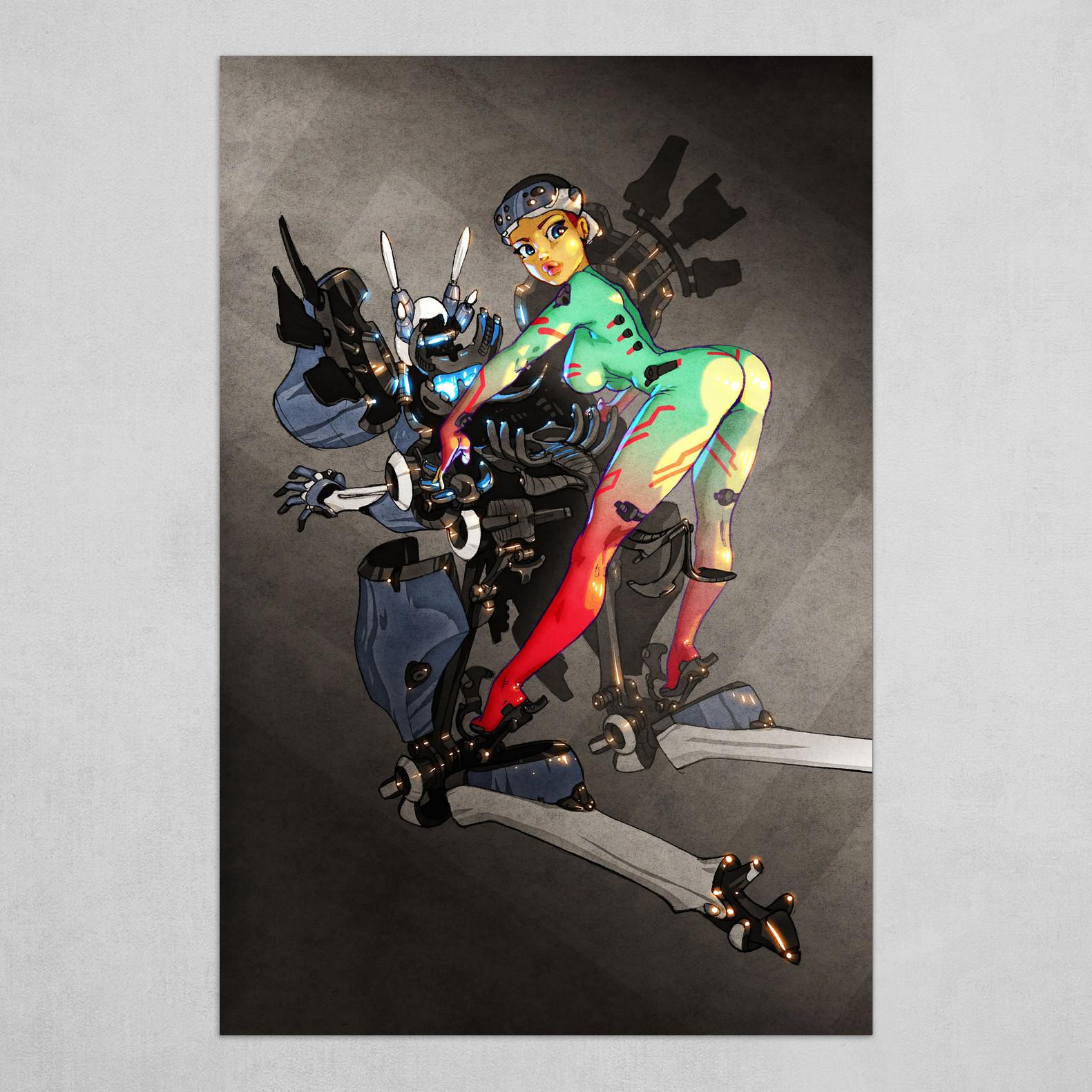 Mecha Pilot Girl - Exoskeleton