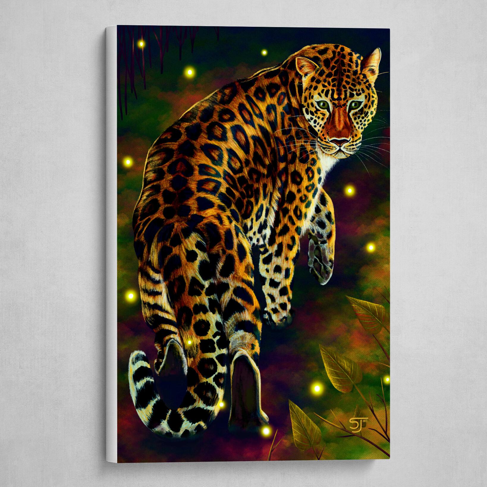 A Curious Amur Leopard