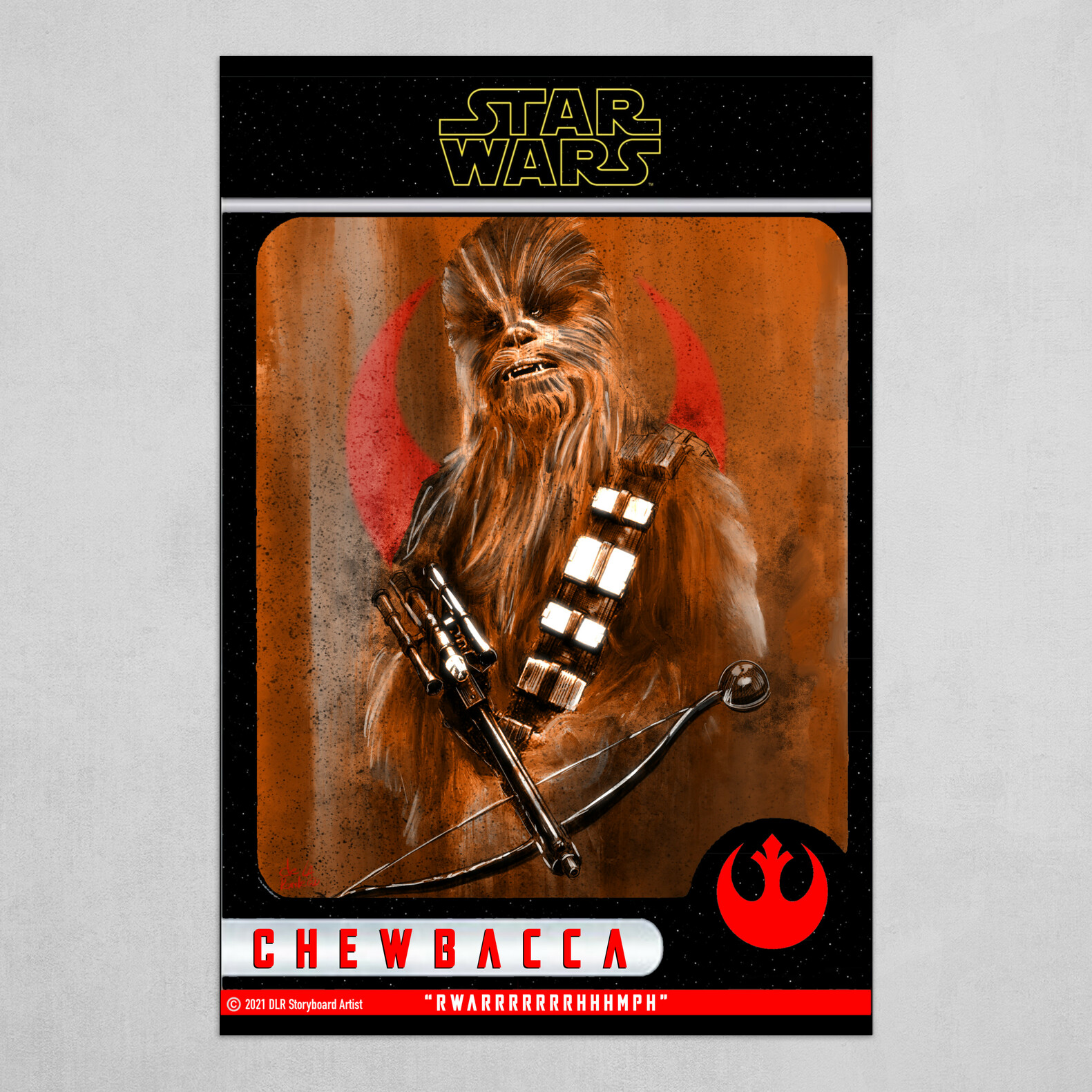 Chewbacca Poster (Trading Card Design Style)