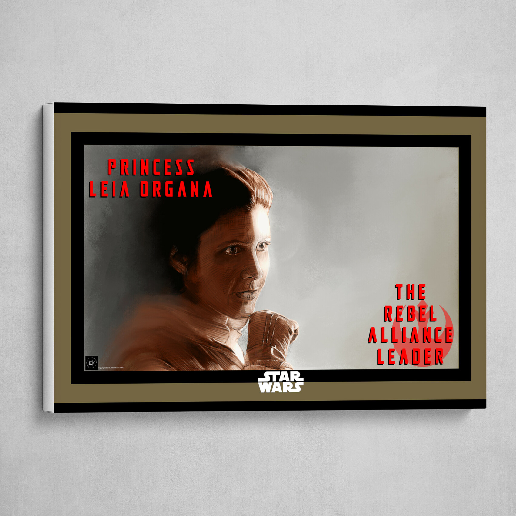 The Rebel Alliance Leader Poster