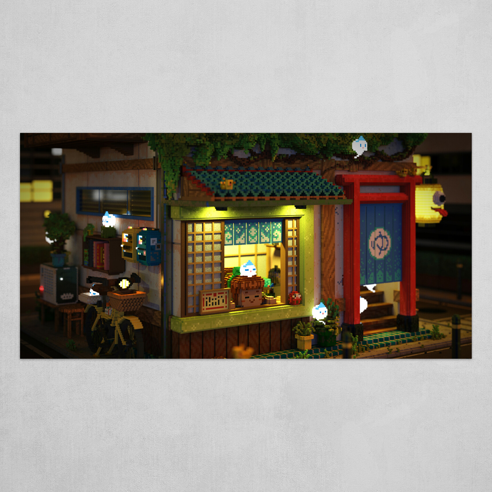 Voxel - Onsen Street - Night 05
