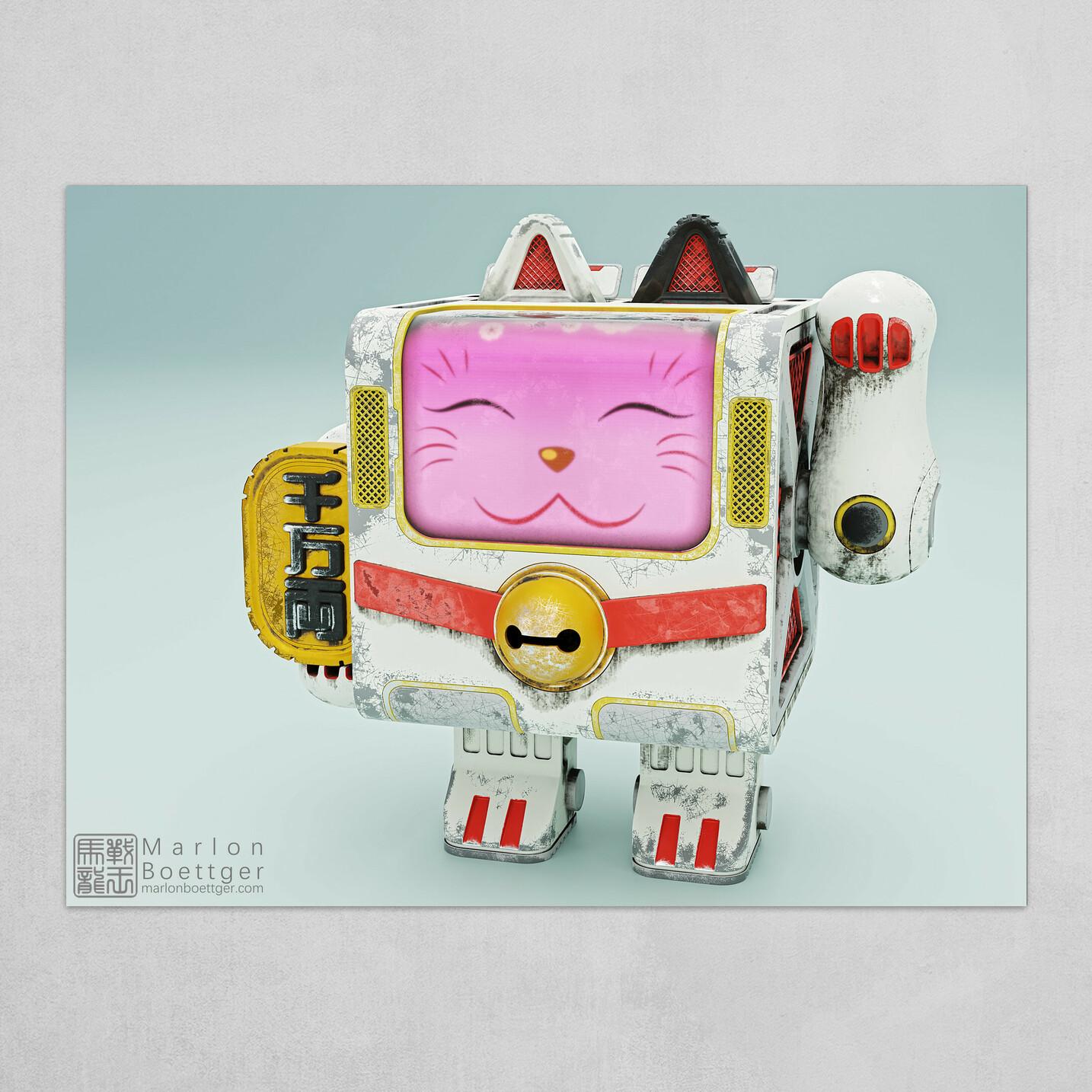 Little Maneki-Neko Robot