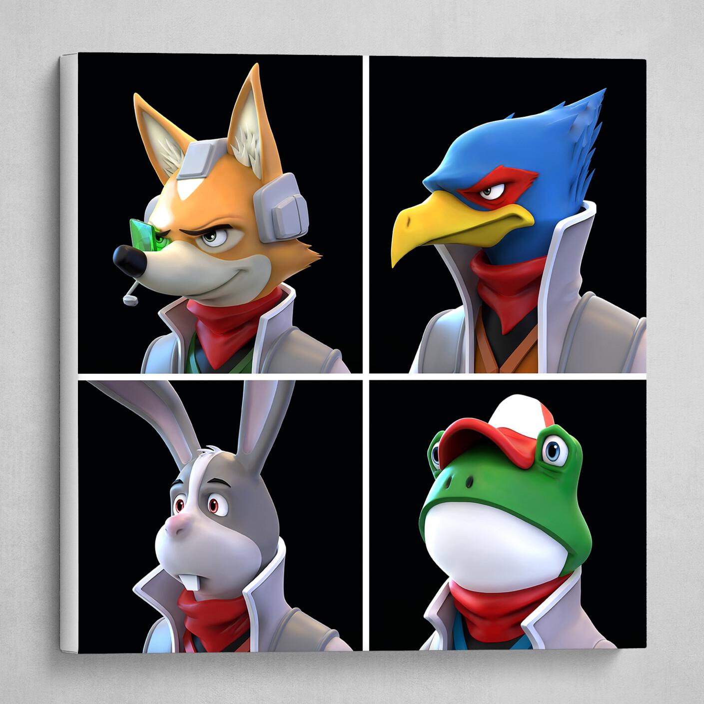 Star Fox Team Print