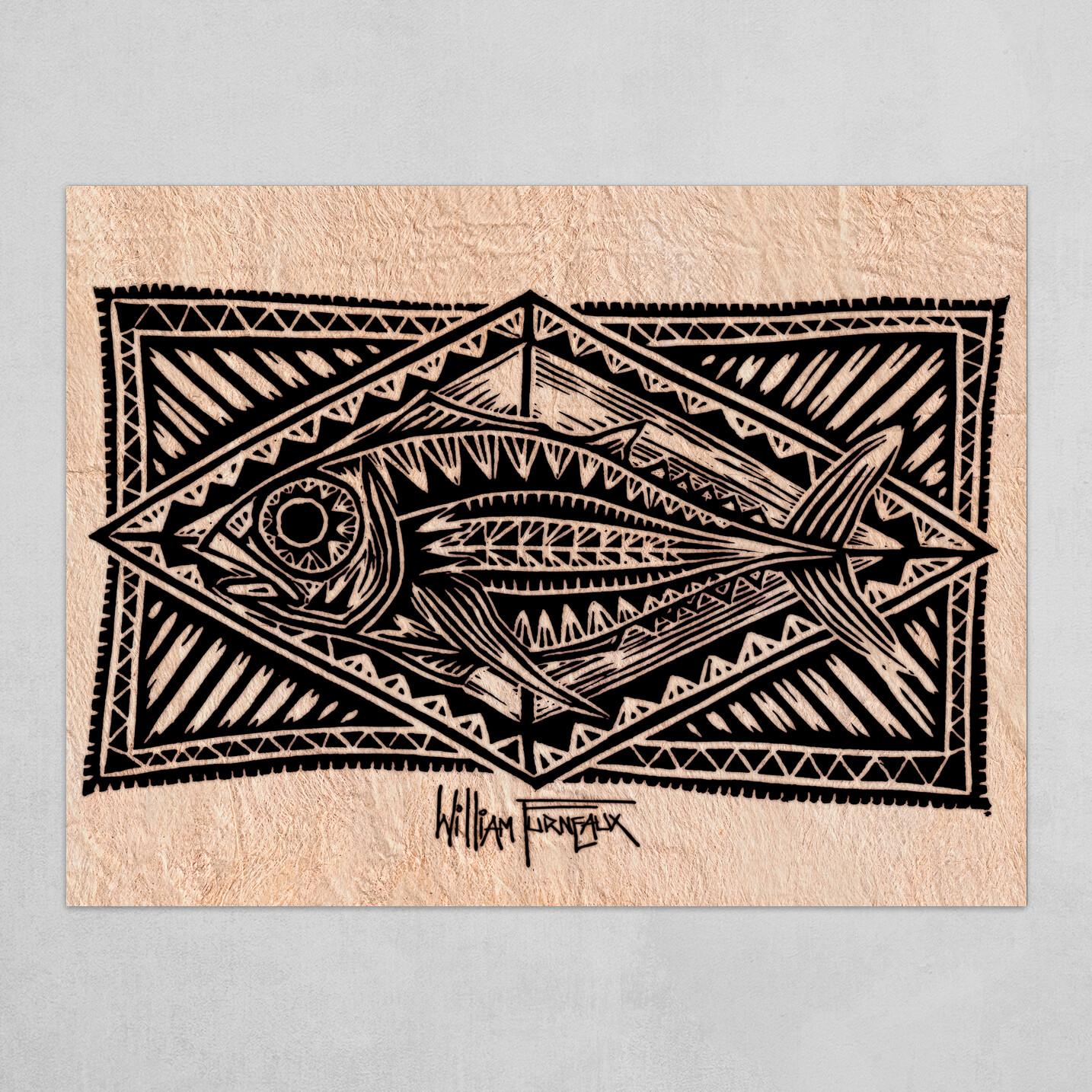 Polynesian Tuna on Tapa