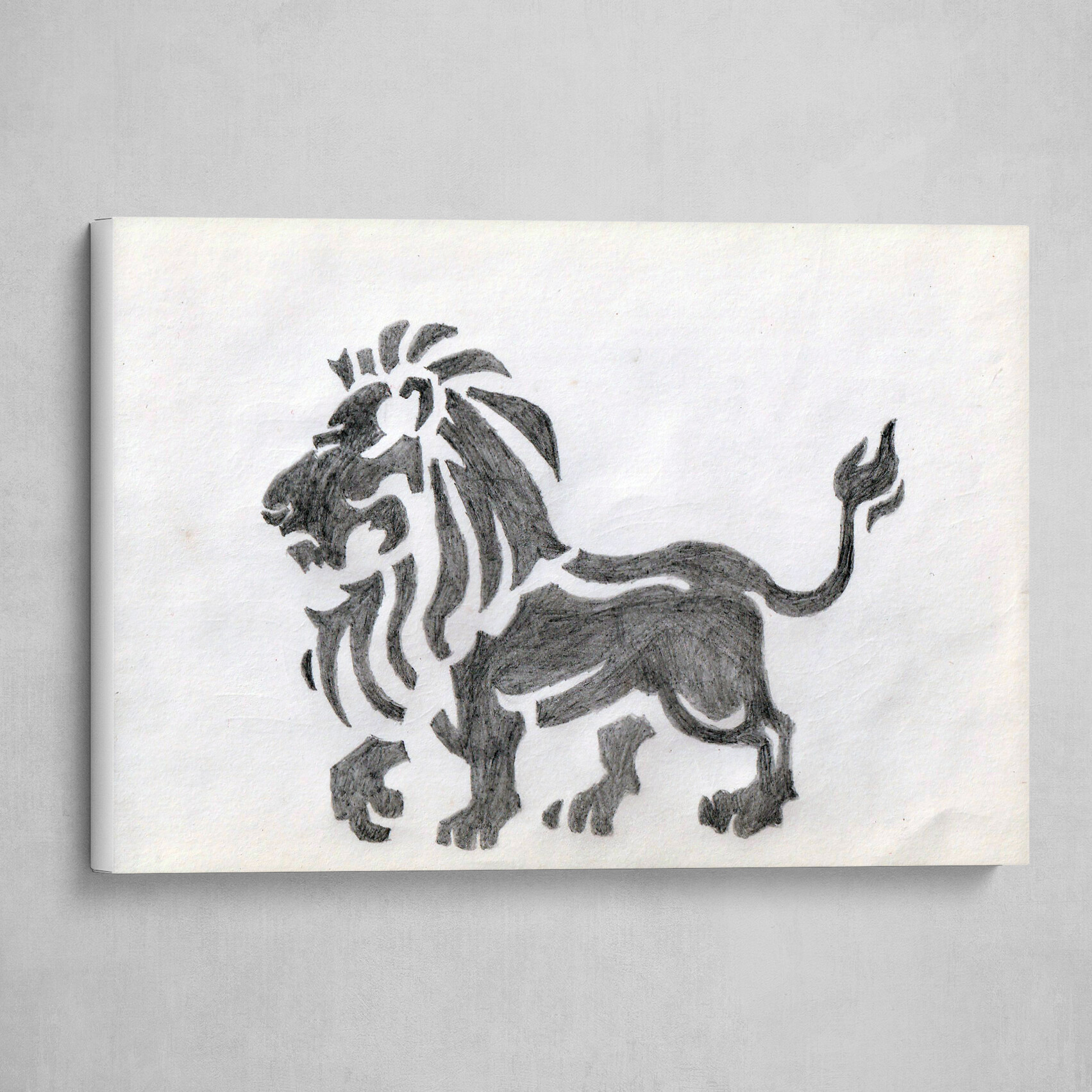 Lion Side Body Sketch