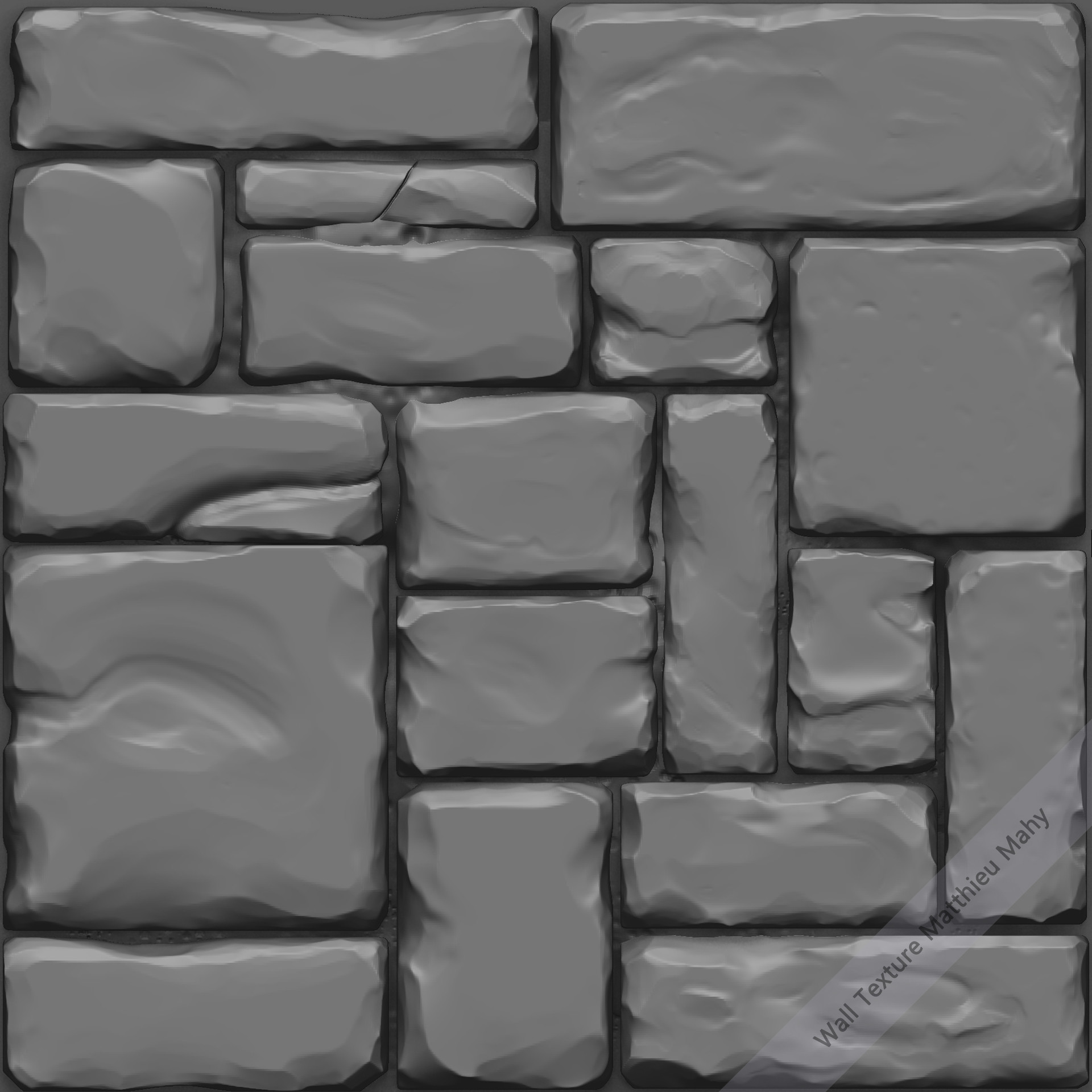 Unfinished brick wall texture for creating environment texture maps - Had Some Time Today To Create A Tileable Rock Texture For The Houses Next Step Is To Create The Diffuse And The Other Map Then I M Gonna Create A Wood