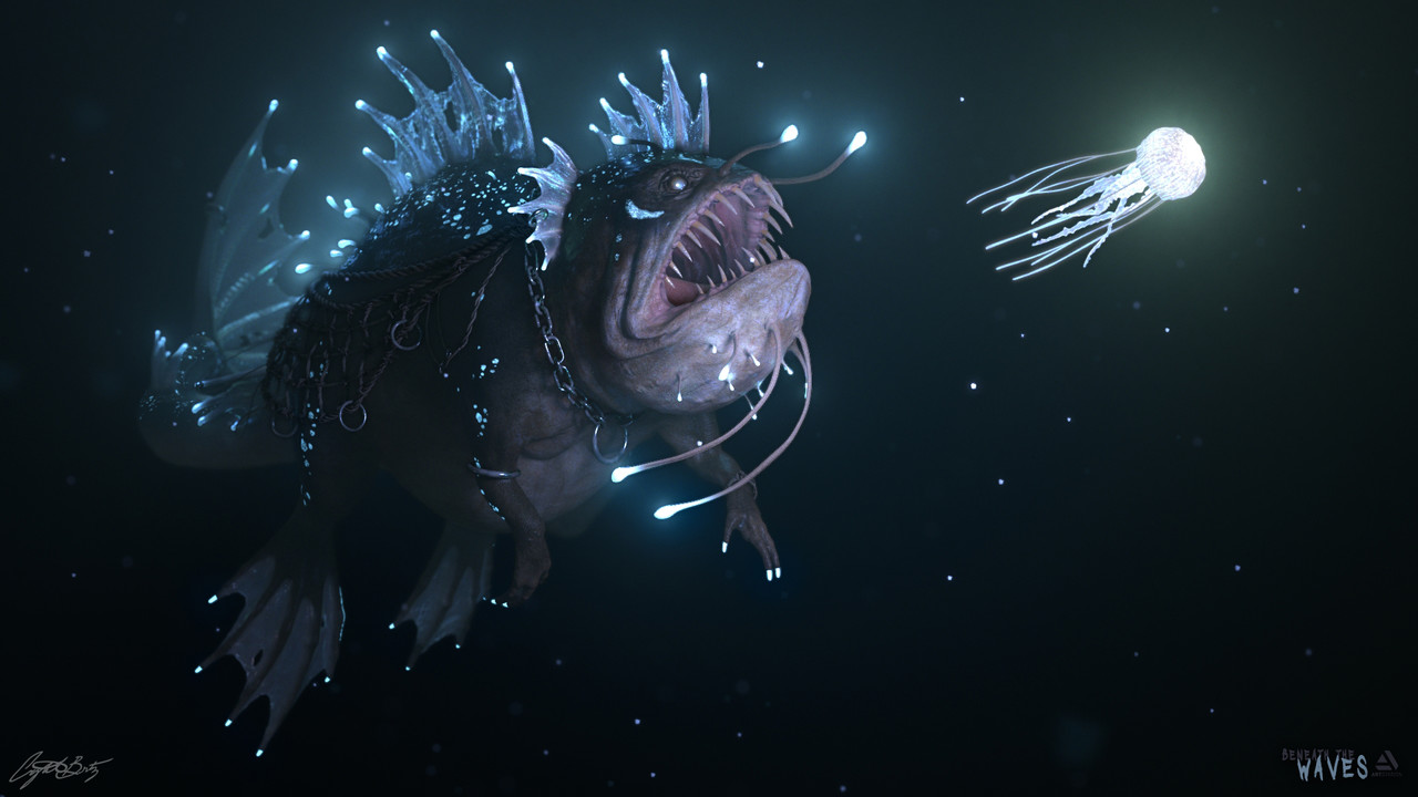 Honorable Mention, Beneath the Waves: Film/VFX Character Art (rendered)