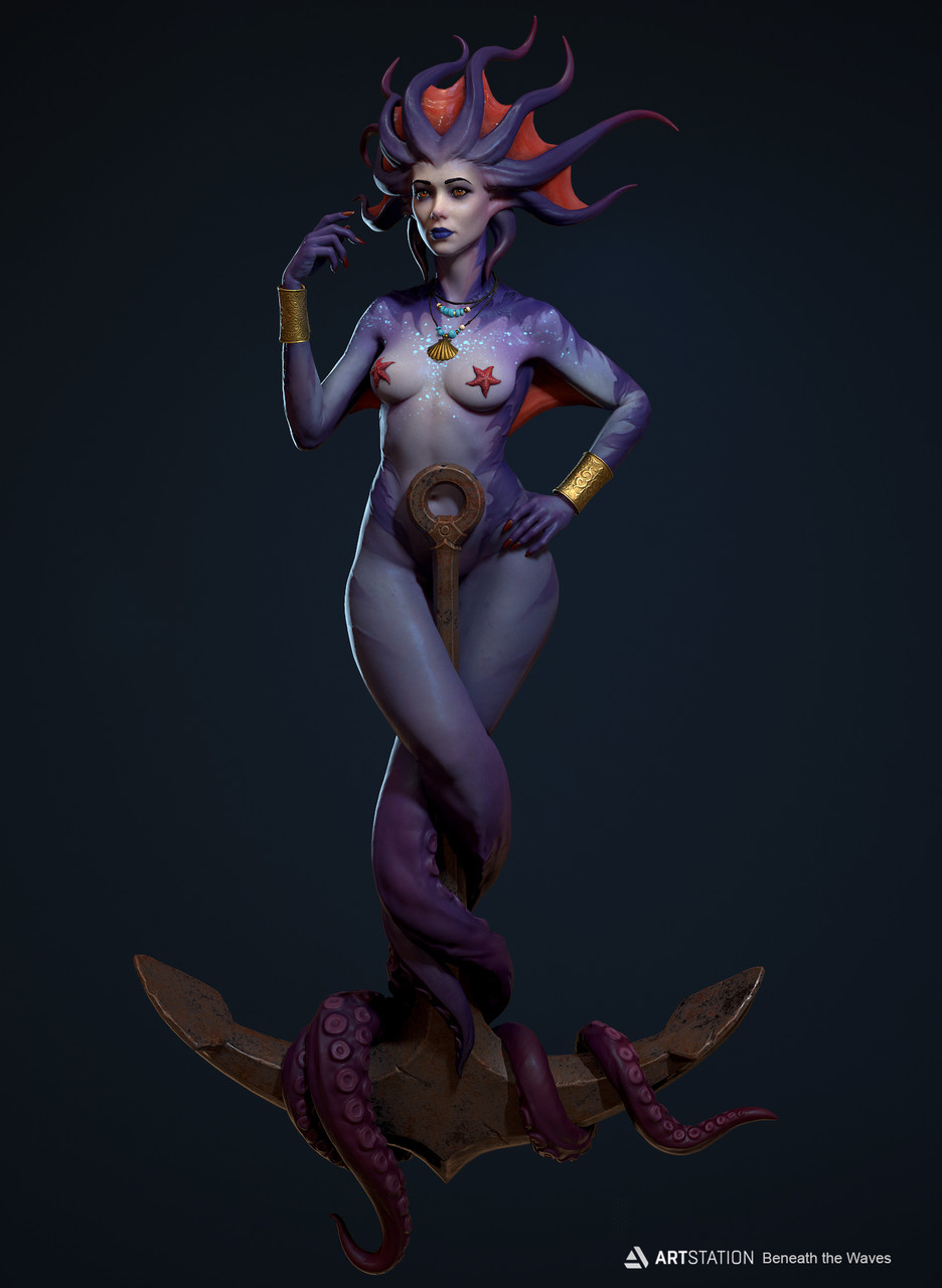 Honorable Mention, Beneath the Waves: Game Character Art (real-time)
