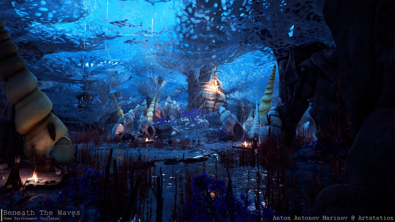 Honorable Mention, Beneath the Waves: Game Environment/Level Art