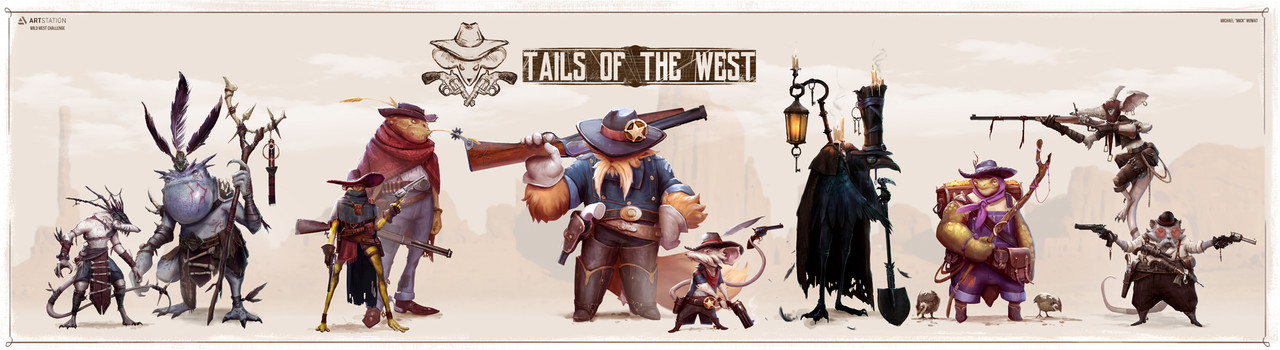 Honorable Mention, Wild West: Character Design
