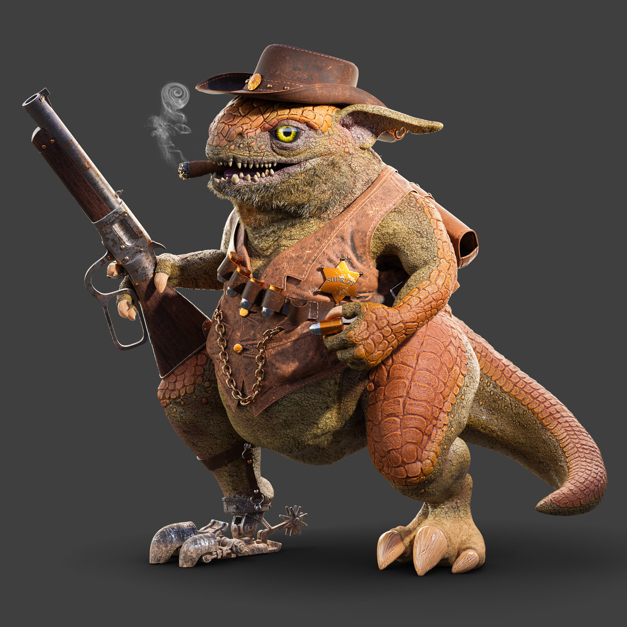 Honorable Mention, Wild West: Film/VFX Character Art (rendered)
