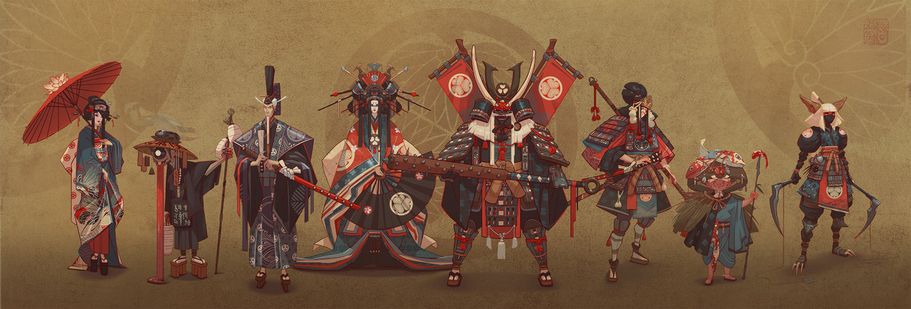 2nd Place, Feudal Japan: The Shogunate: Character Design