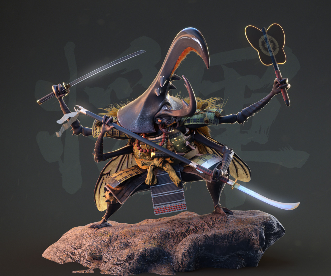 Honorable Mention, Feudal Japan: The Shogunate: Film/VFX Character Art (rendered)