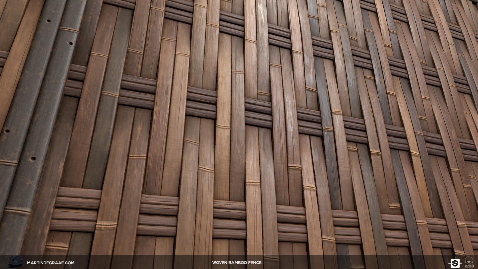 ArtStation - Martin de Graaf - Material Study: Woven Bamboo
