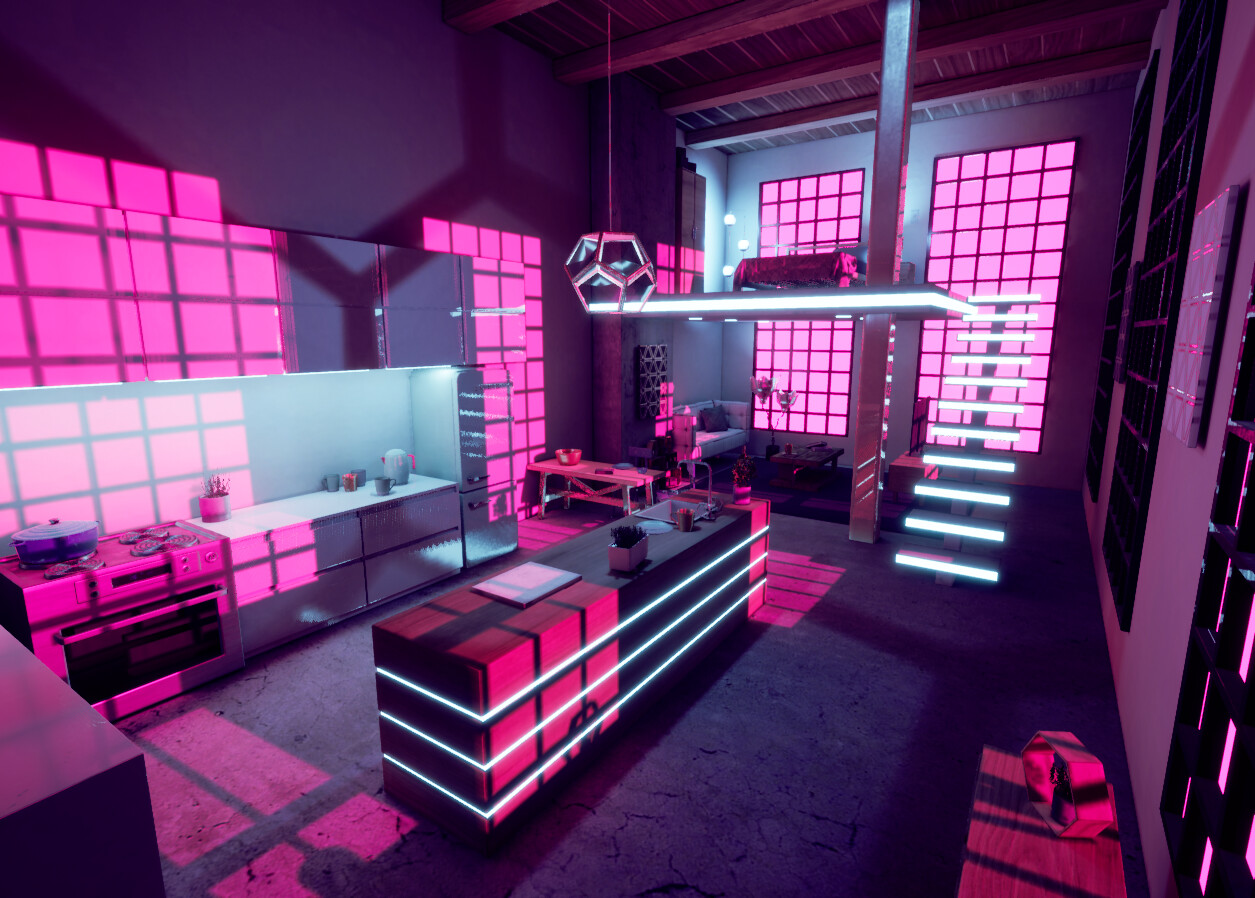 ArtStation - Elle Colaiaco - UE4 Lighting Research