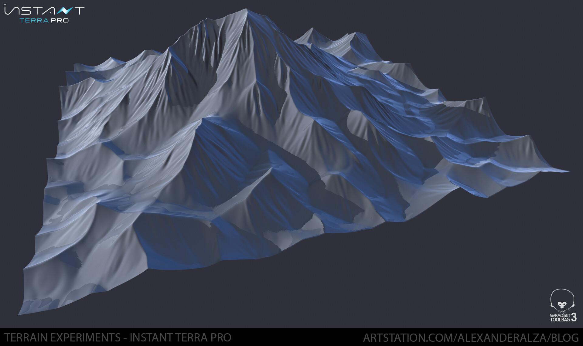 ArtStation - Alexander Alza - Terrain experiments using