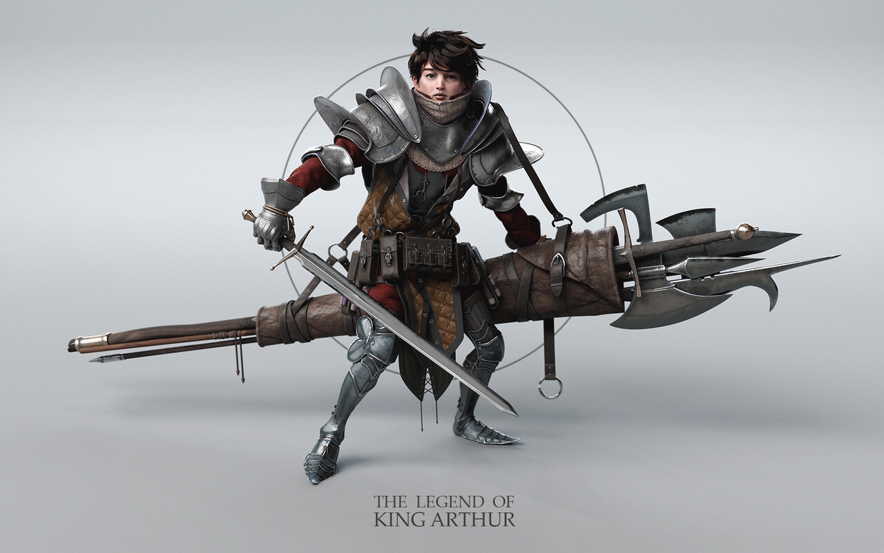 2nd Place, The Legend of King Arthur: Film/VFX Character Art (rendered)
