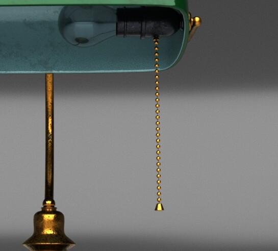 1950 bank lamp colour