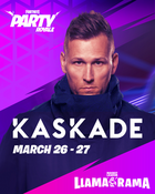 Kaskade x fortnite concert vertical text