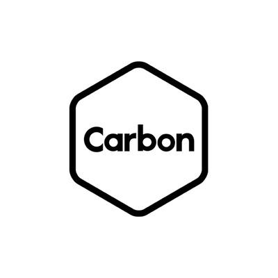 Carbon logo onwhite square