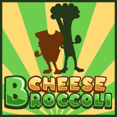 Cheese broccoli square logo
