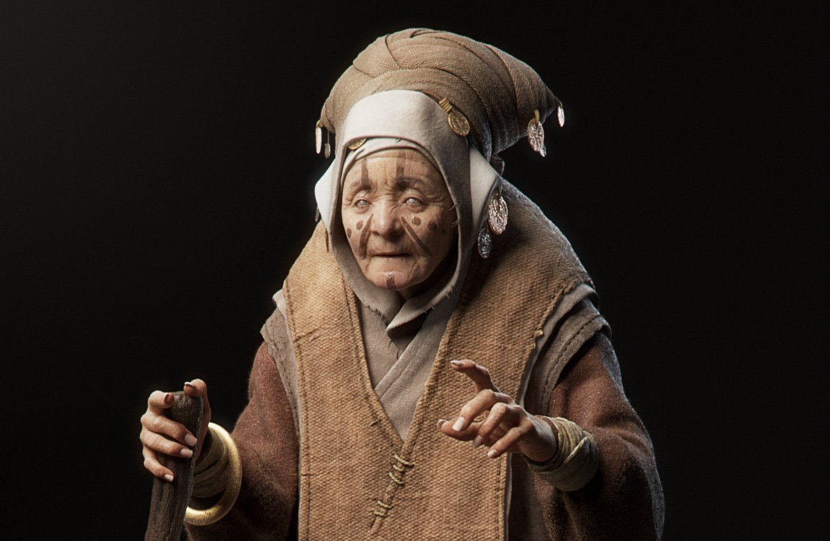 1st Place, Ancient Civilizations: Lost & Found: Film/VFX Character Art (rendered)