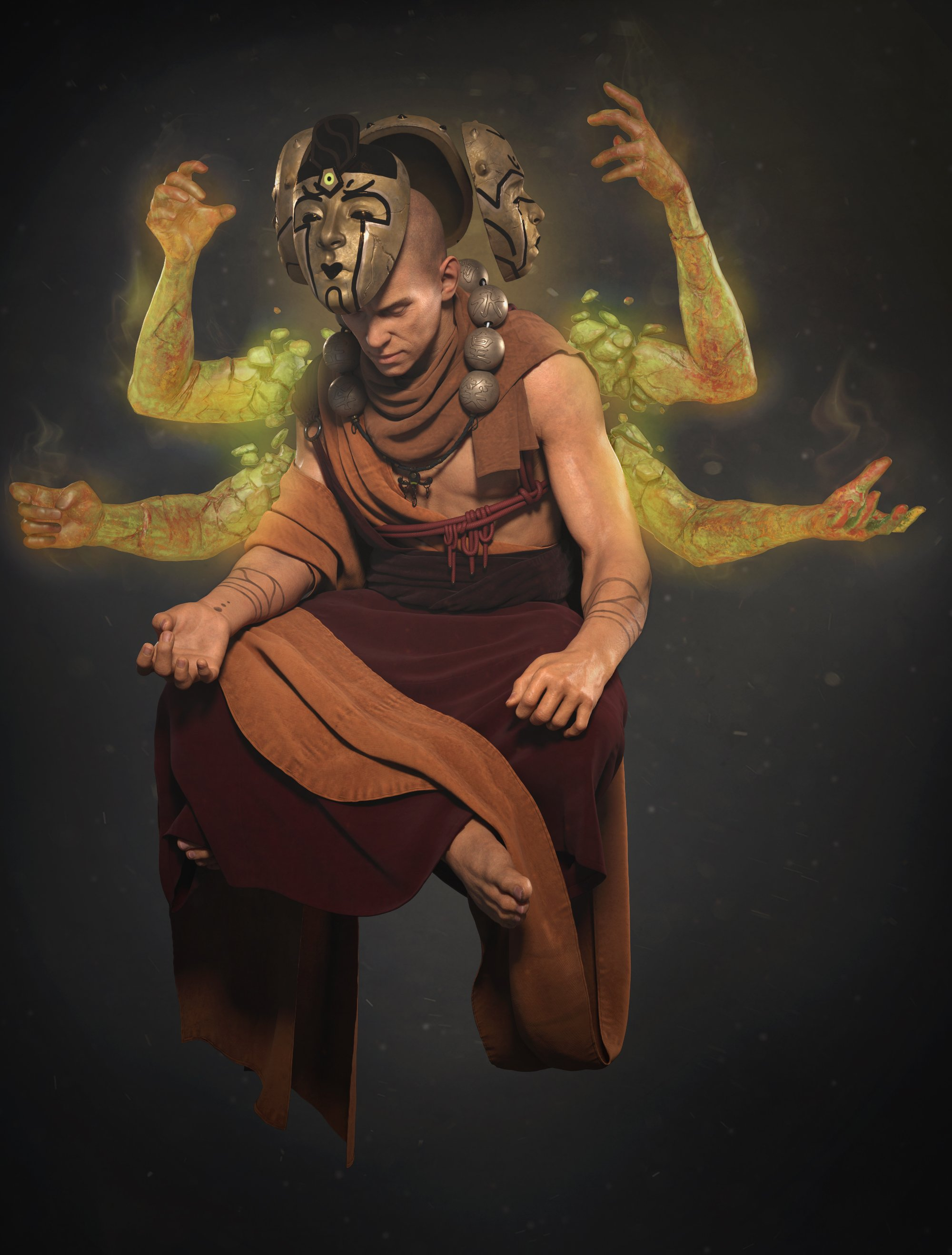 2nd Place, Ancient Civilizations: Lost & Found: Film/VFX Character Art (rendered)